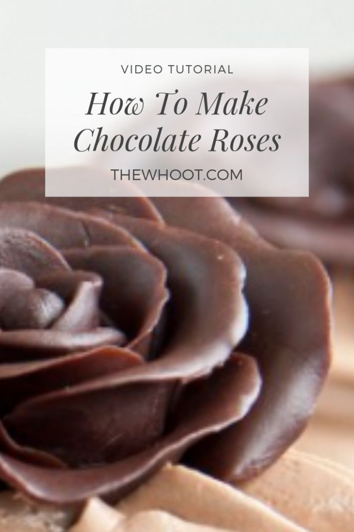 How To Make Chocolate Roses Youtube Video |The WHOot - Recipe Chocolate Video