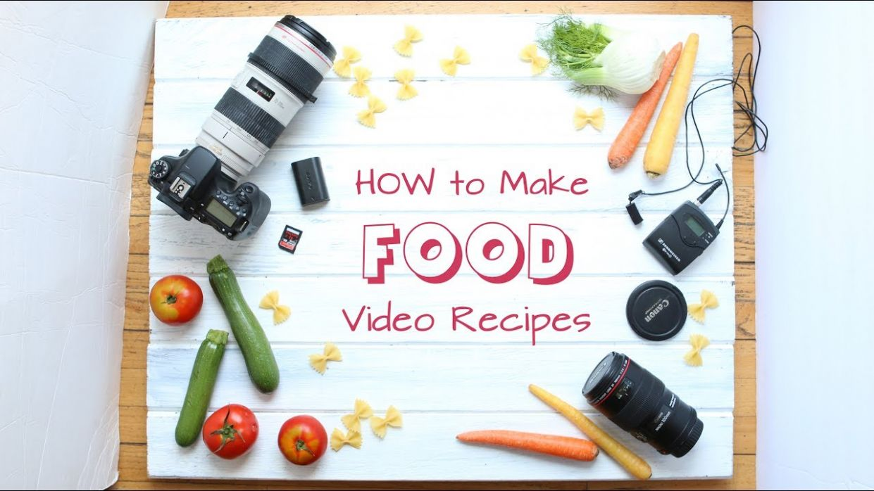 How to make cooking videos - tutorial