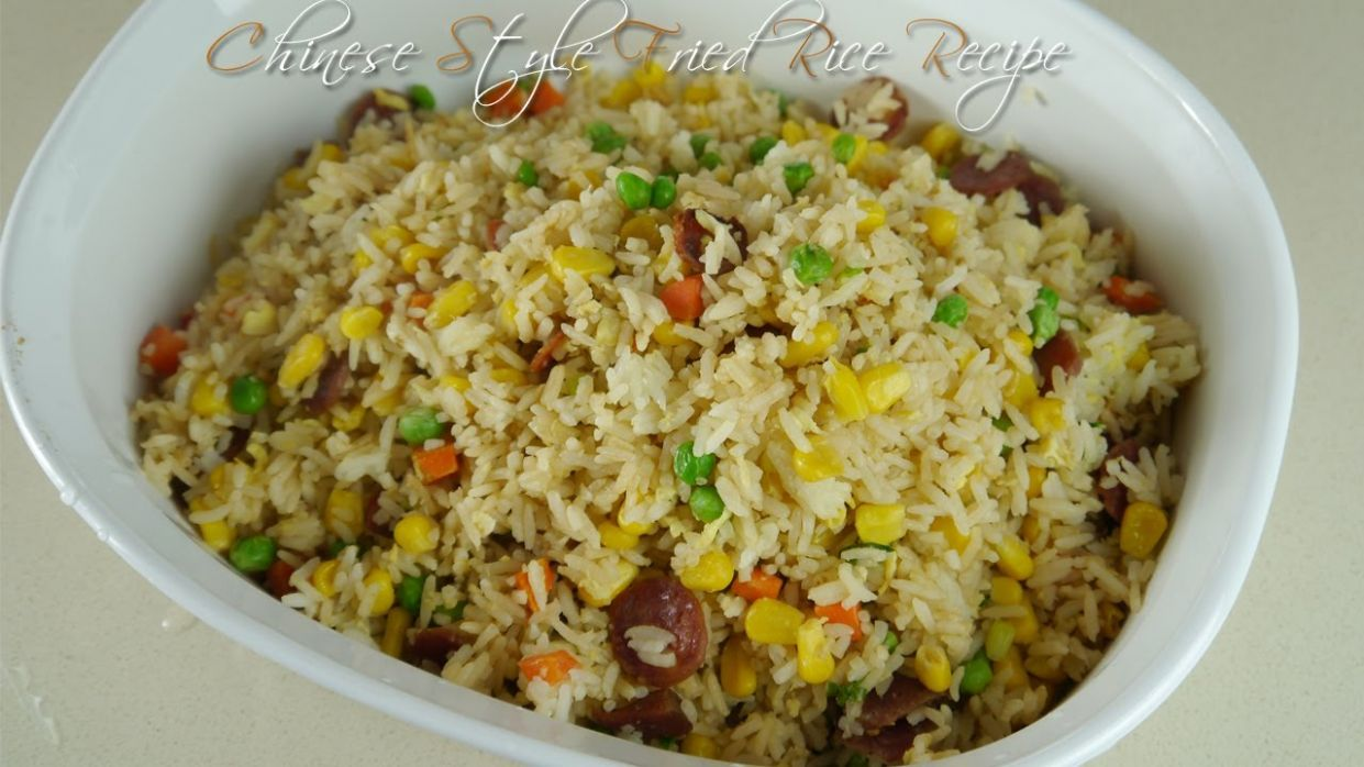How to Make Easy Chinese Style Fried Rice Recipe - Rice Recipes Youtube