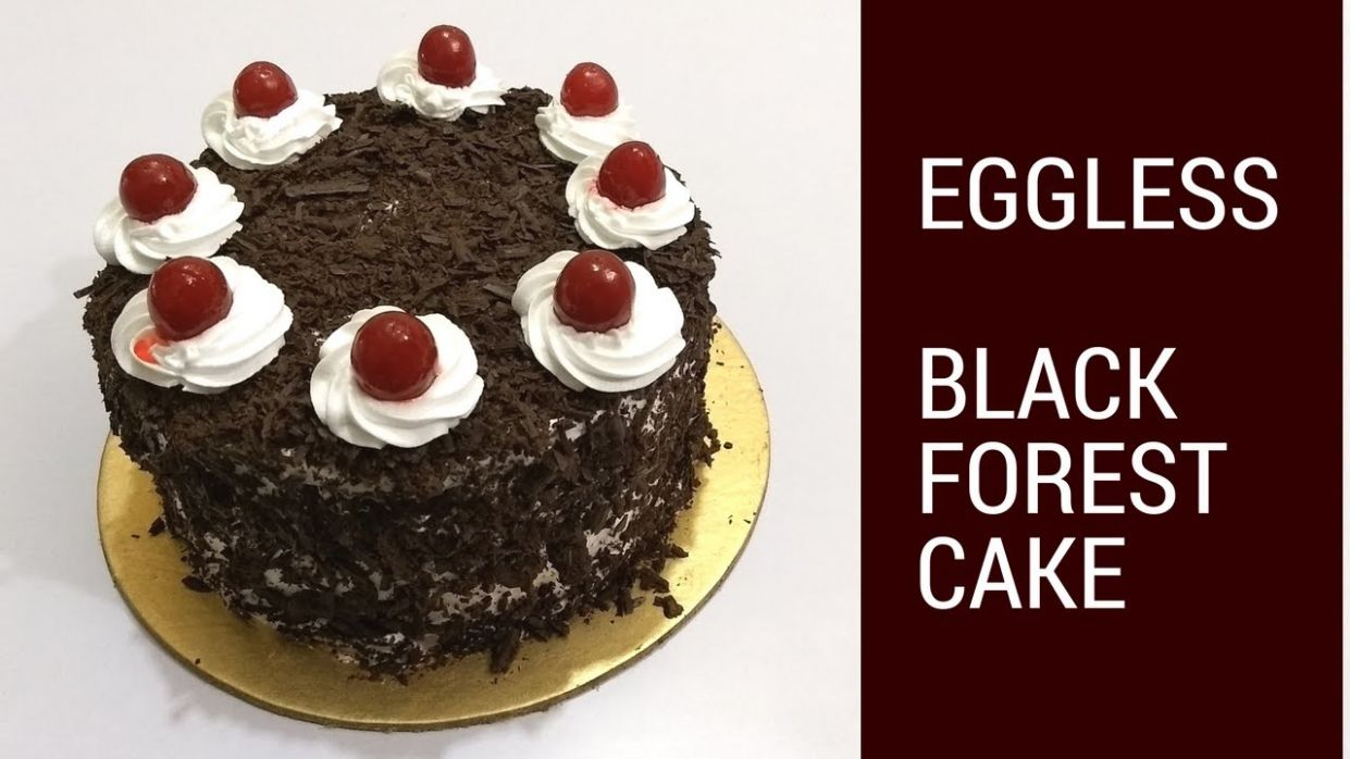 How to make Eggless Black Forest Cake - Recipe in Hindi by Cooking with  Smita