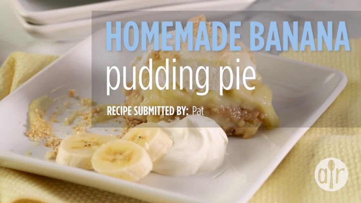How to Make Homemade Banana Pudding Pie | Dessert Recipes ..