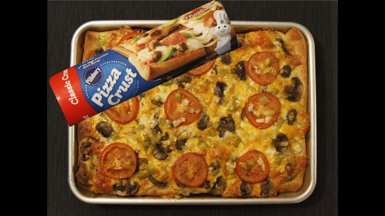 How to make Homemade Pizza using Pillsbury Pizza Crust - Recipes With Refrigerated Pizza Crust