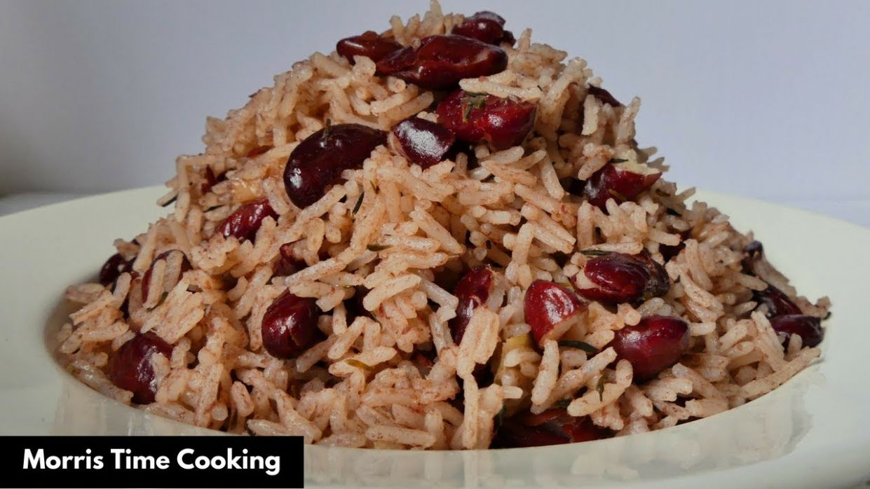 How To Make Jamaican Rice & Peas | Lesson #8 | Morris Time Cooking - Simple Recipes Jamaican Rice And Peas