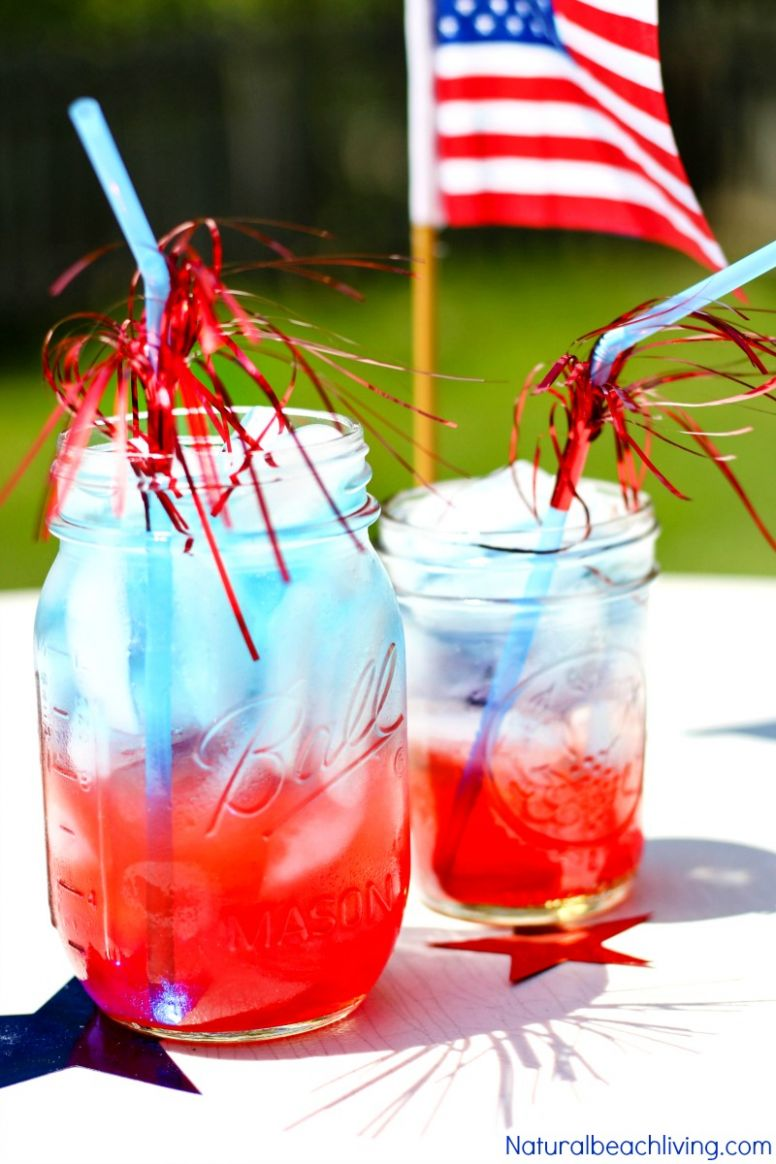 How to Make Patriotic Non Alcoholic Summer Drinks - Perfect 9th of ..
