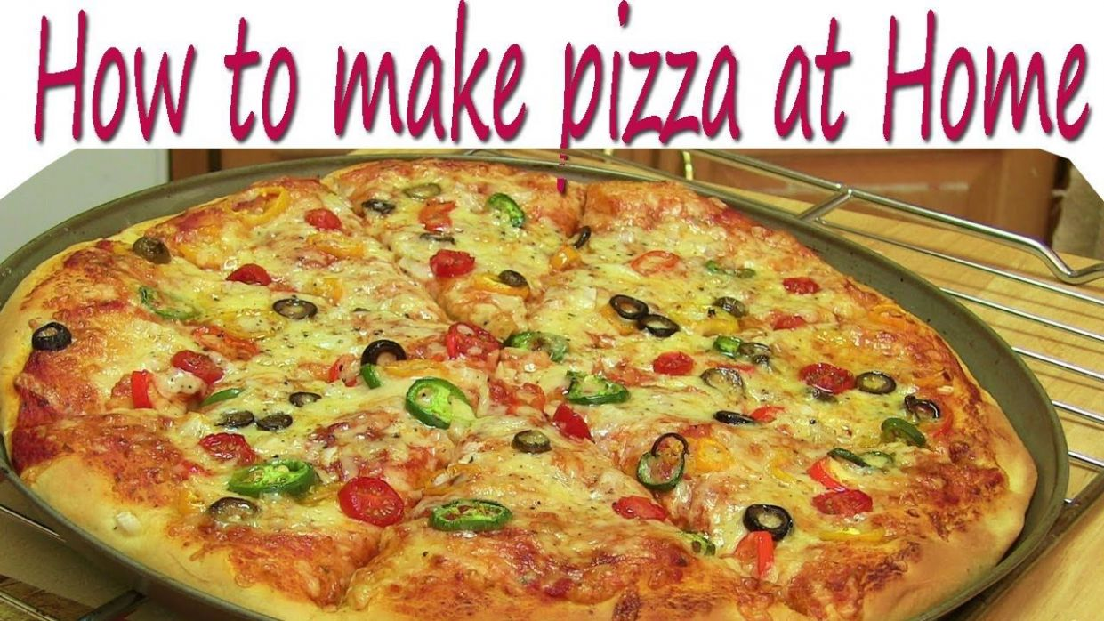 How to Make Pizza at Home Pizza Recipe without Oven in Hindi | How ...