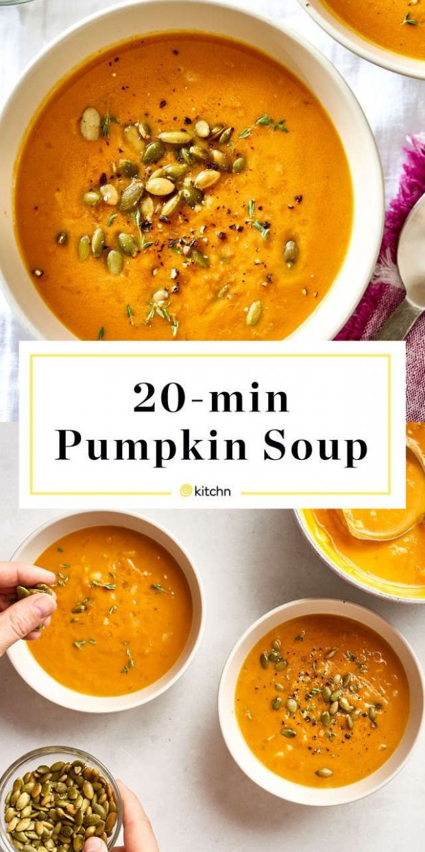 How To Make Pumpkin Soup in 12 Minutes - Soup Recipes Kitchn