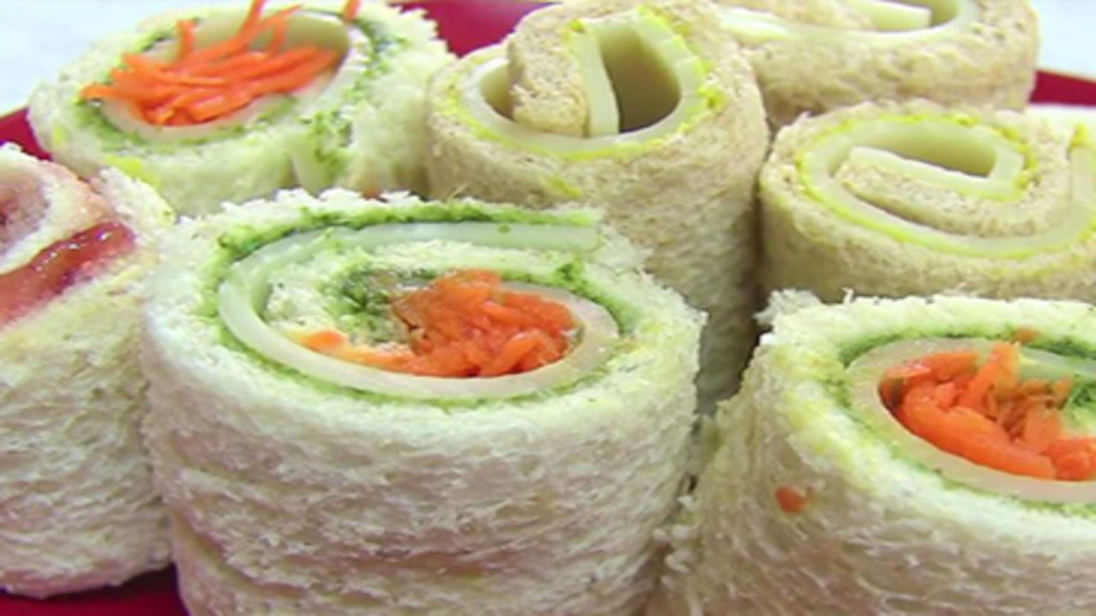How to make Sandwich Roll Ups - Recipes For Sandwich Roll