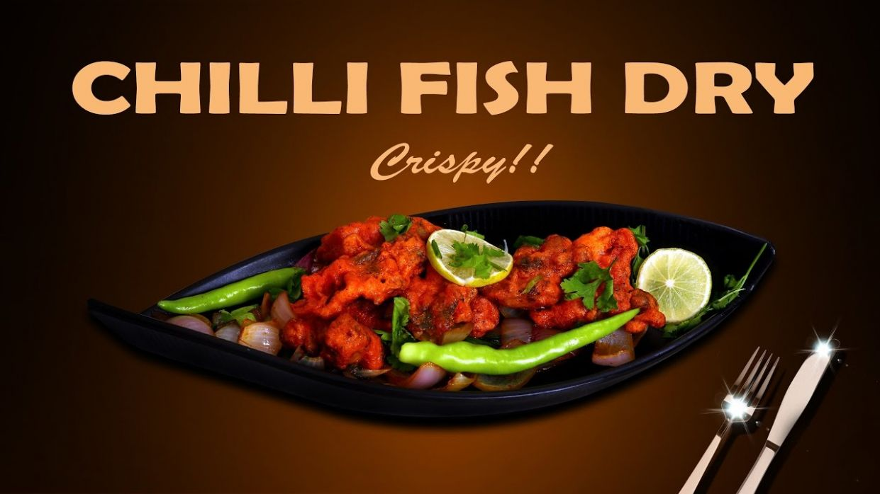 How To Make Tasty Chilli Fish Dry At Home? - Try This One Minute Video - Recipe Fish Video