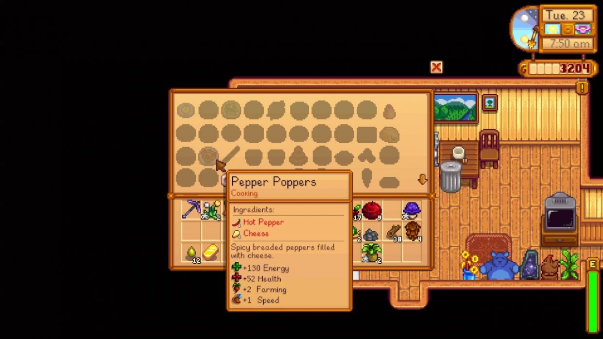 How to see your Cooking Recipes - Stardew Valley - Food Recipes Stardew Valley