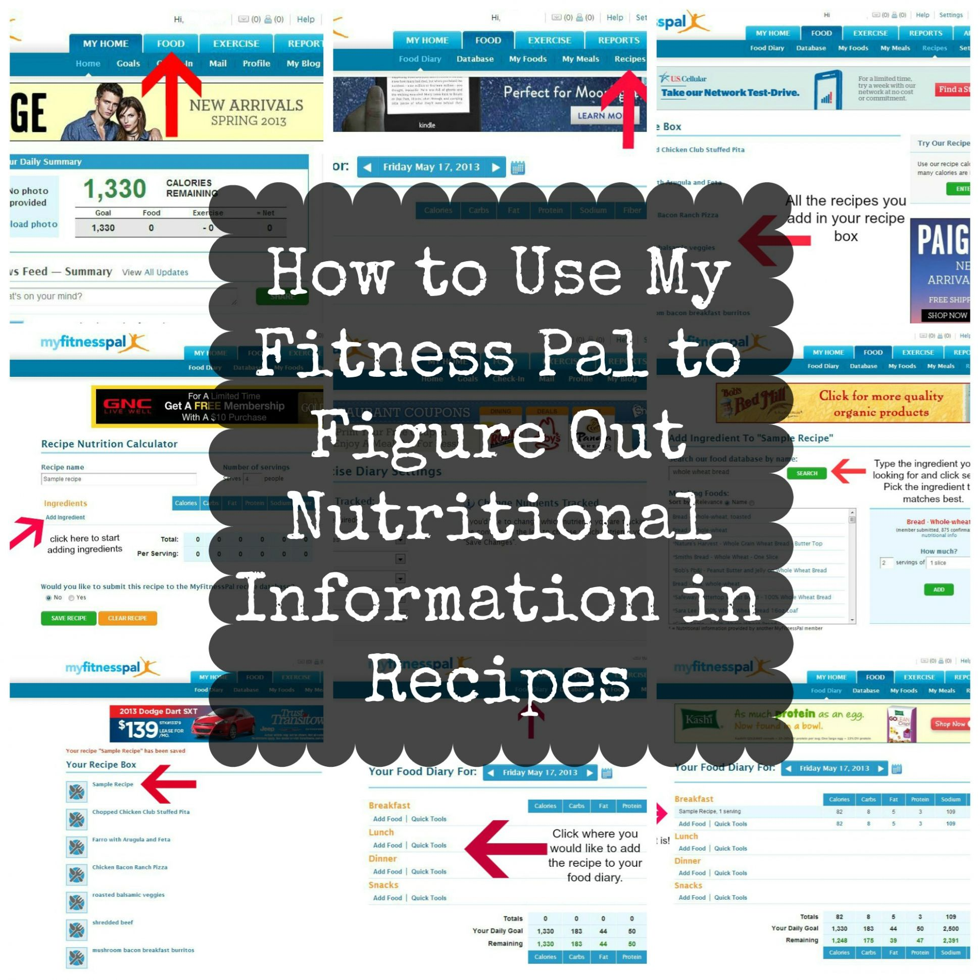 How to Use My Fitness Pal to Figure Out Nutritional Information in ..
