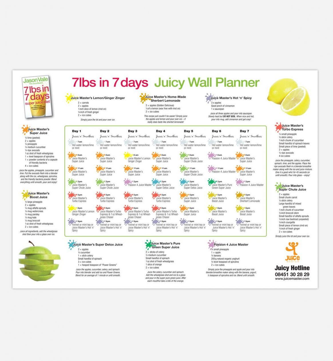 Image result for 11lbs in 11 days juicy wall planner pdf | Juice ..