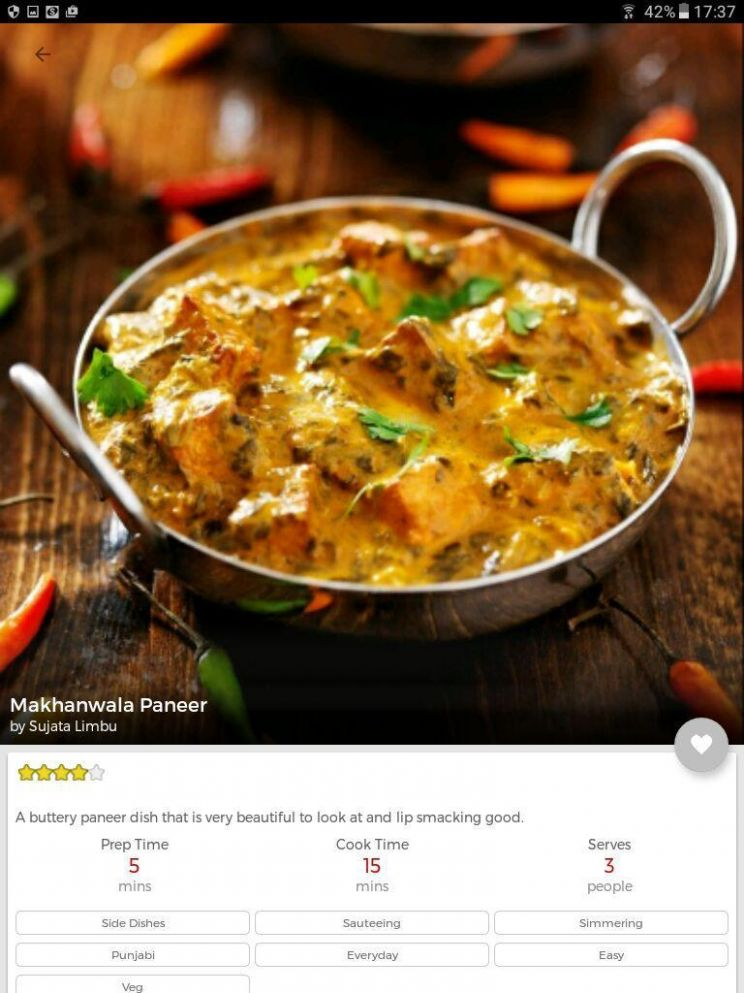 Indian recipes in Hindi, English,Gujarati, Marathi für Android ...