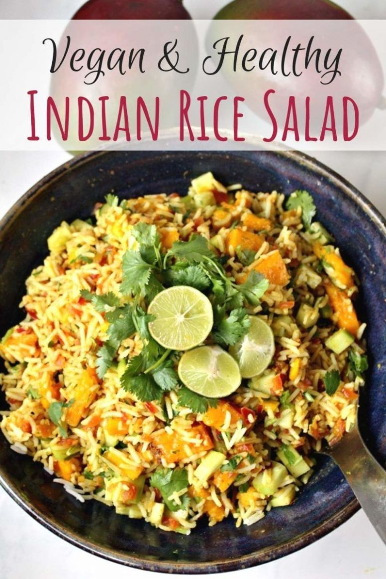 Indian Rice Salad with Mango & Lime Dressing | Vegan Salad Recipes - Recipes Rice Salad
