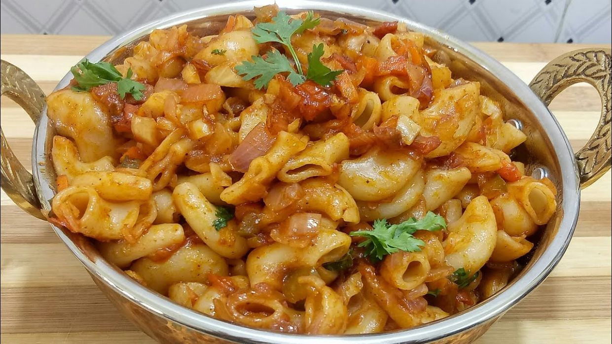 Indian style pasta recipe/macaroni/ pasta recipe/kids special recipe in  kannada - Pasta Recipes Kannada
