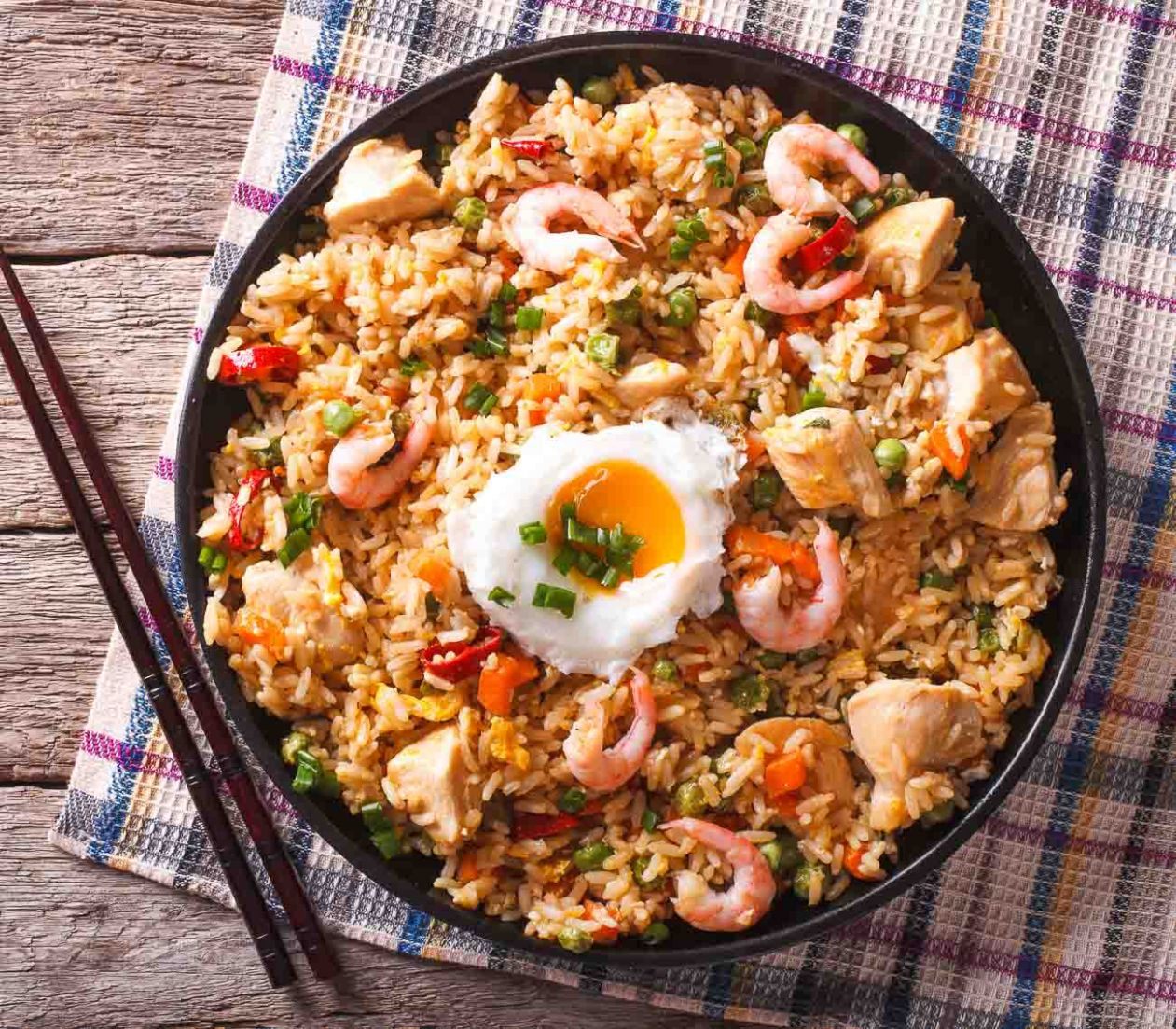 Indo Chinese Prawn And Chicken Fried Rice Recipe - Recipes Rice With Prawns