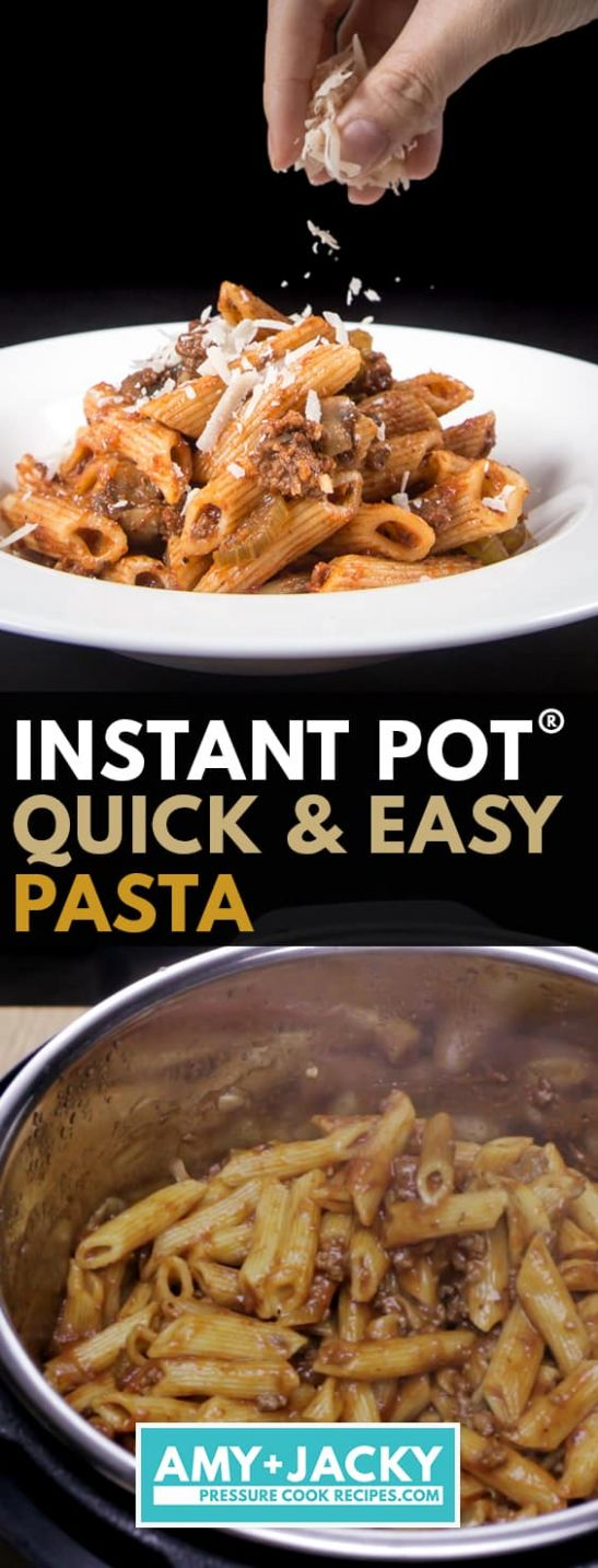 Instant Pot Pasta   Tested by Amy + Jacky - Pasta Recipes Pressure Cooker