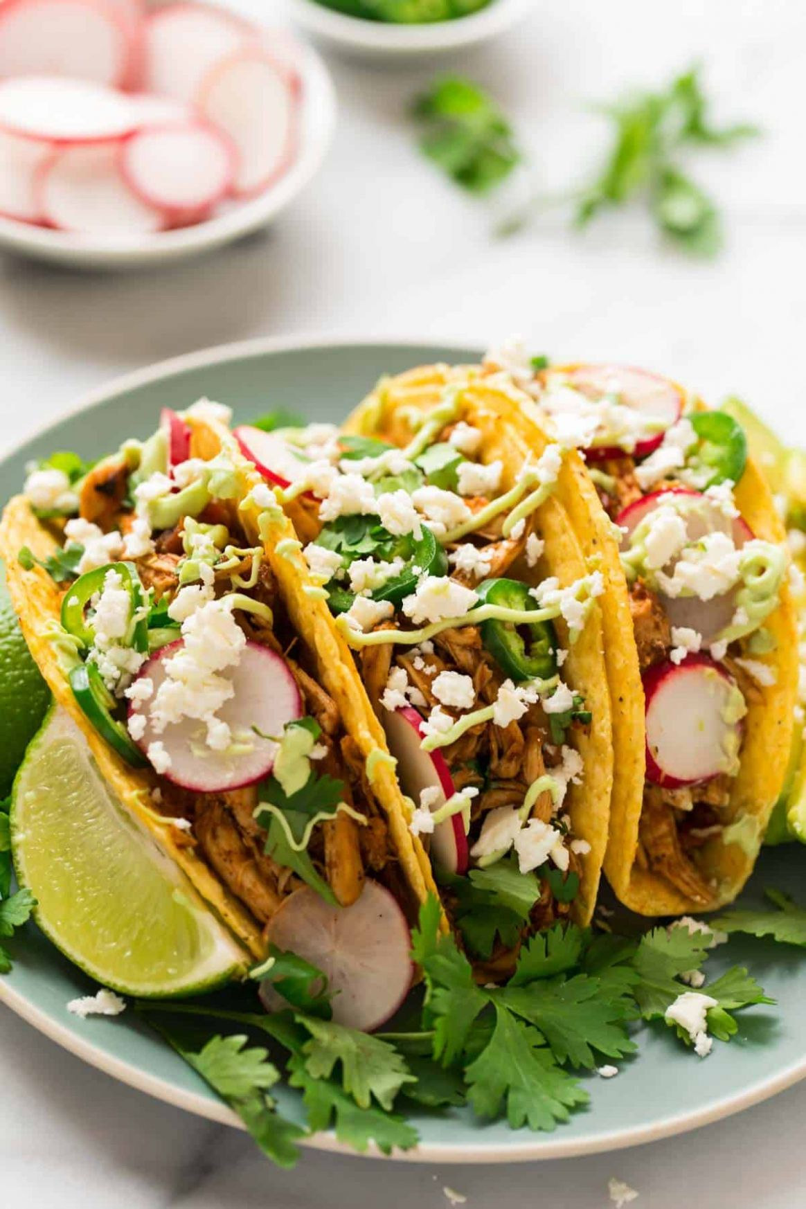 Instant Pot Shredded Chicken Tacos - Recipes Chicken Tacos