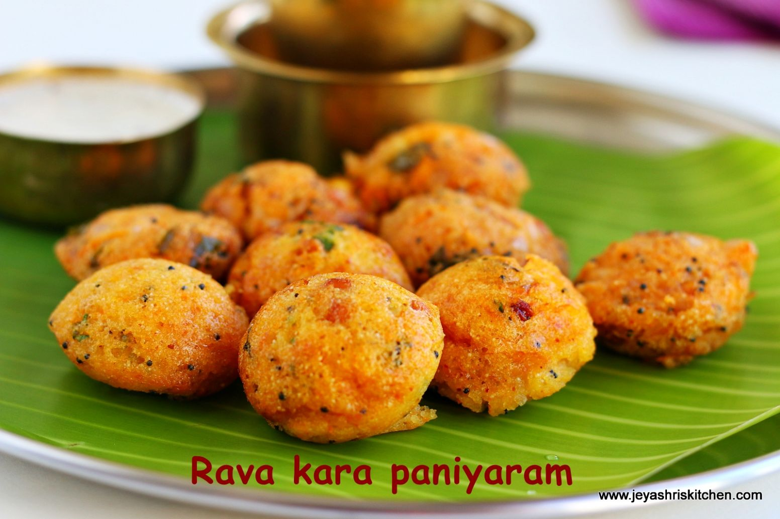 Instant Rava Kara kuzhi Paniyaram | South Indian breakfast recipes ..