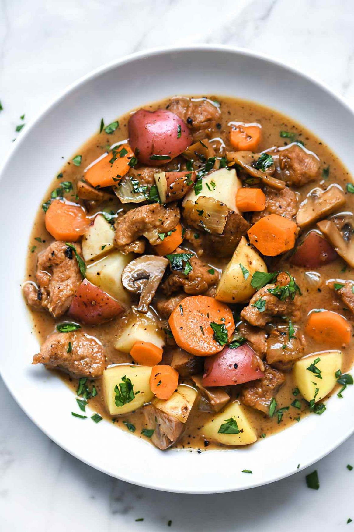 Irish Pork Stew with Stout and Caraway Seeds