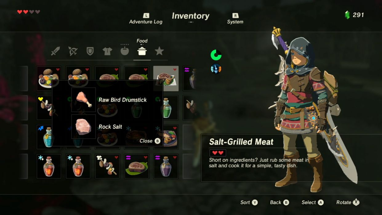 Is there a Recipe book? - Arqade - Cooking Recipes Botw