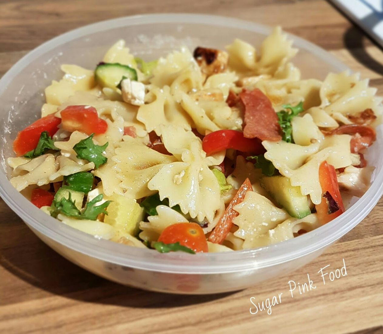 Italian Chicken Pasta Salad | Slimming World - Sugar Pink Food - Salad Recipes Slimming World