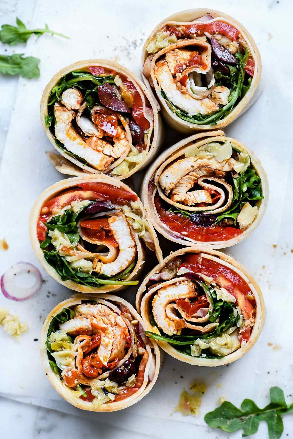 Italian Chicken Wrap - Recipes Sandwich Wraps