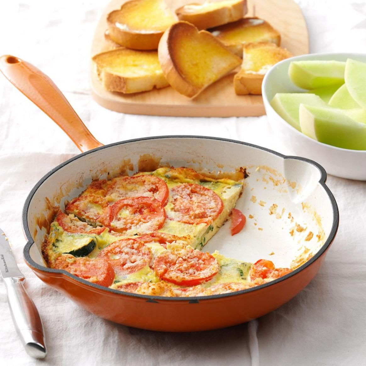 Italian Garden Frittata - Breakfast Recipes Under 200 Calories