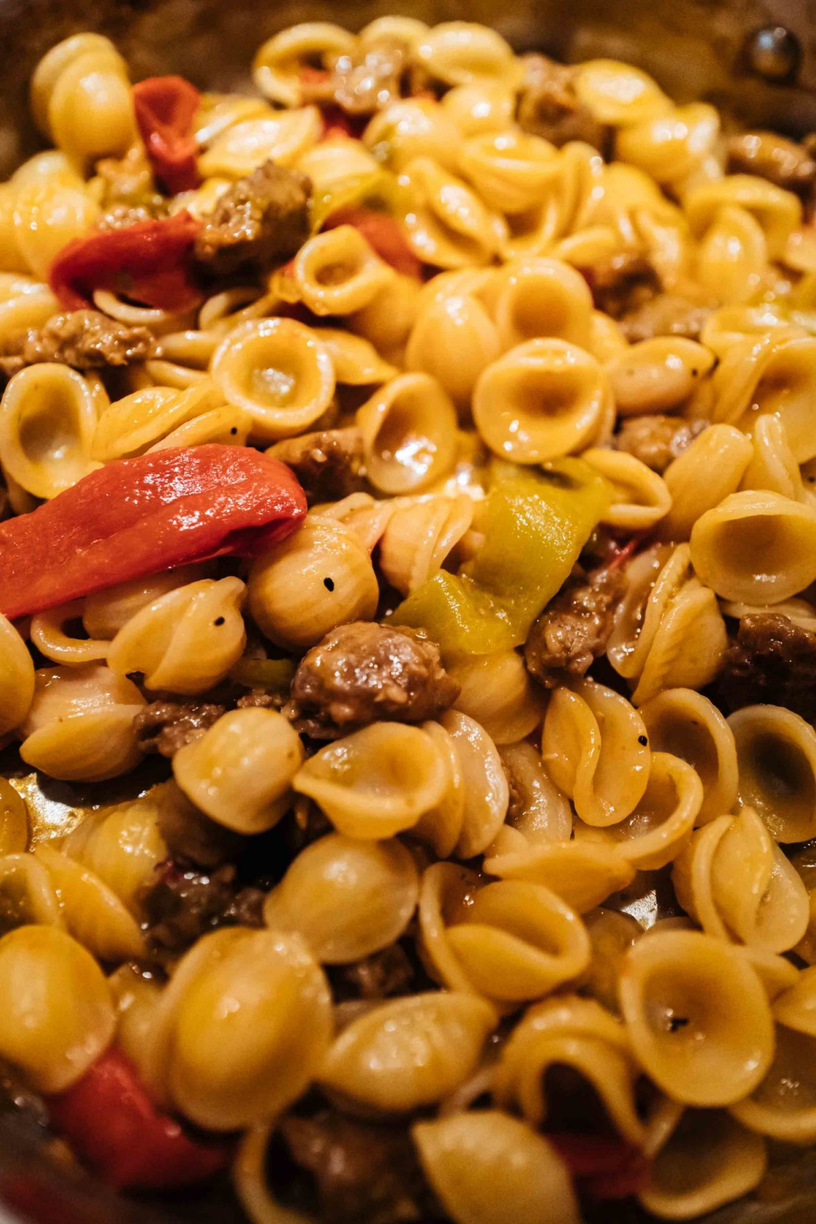 Italian Sausage and Pepper Orecchiette Pasta
