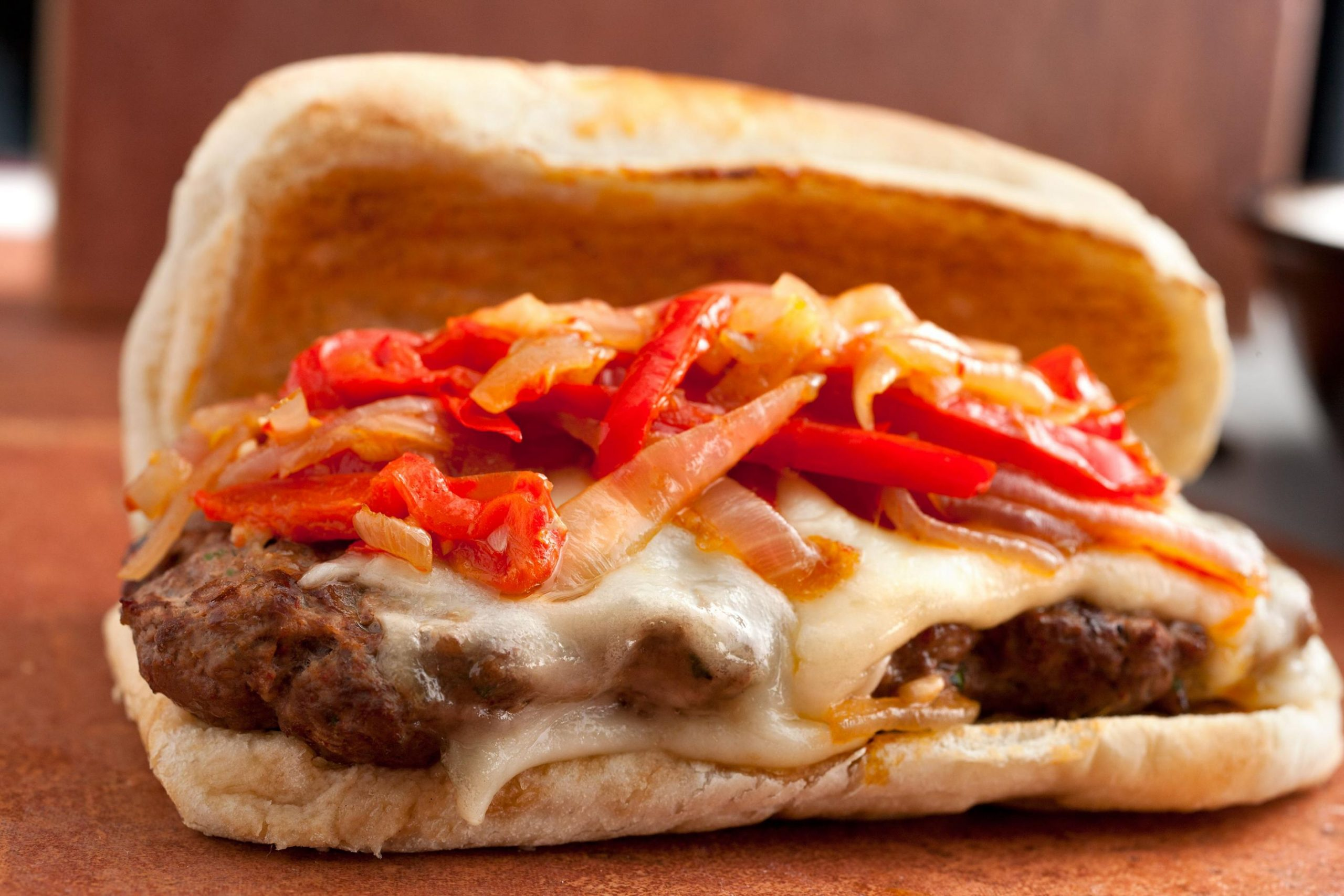 Italian Venison-Sausage Sandwiches with Peppers and Onions - Recipes Sausage Sandwich