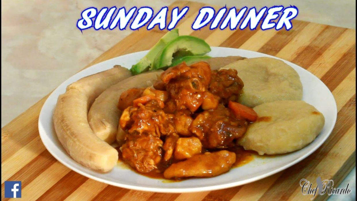 Jamaican Hard Food With Curry Chicken Sunday Dinner | Recipes By Chef  Ricardo - Dinner Recipes Jamaican