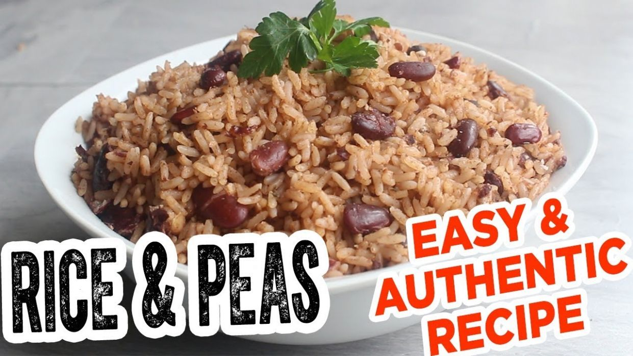 Jamaican RICE & PEAS - MOST Delicious EASY & authentic recipe - Simple Recipes Jamaican Rice And Peas