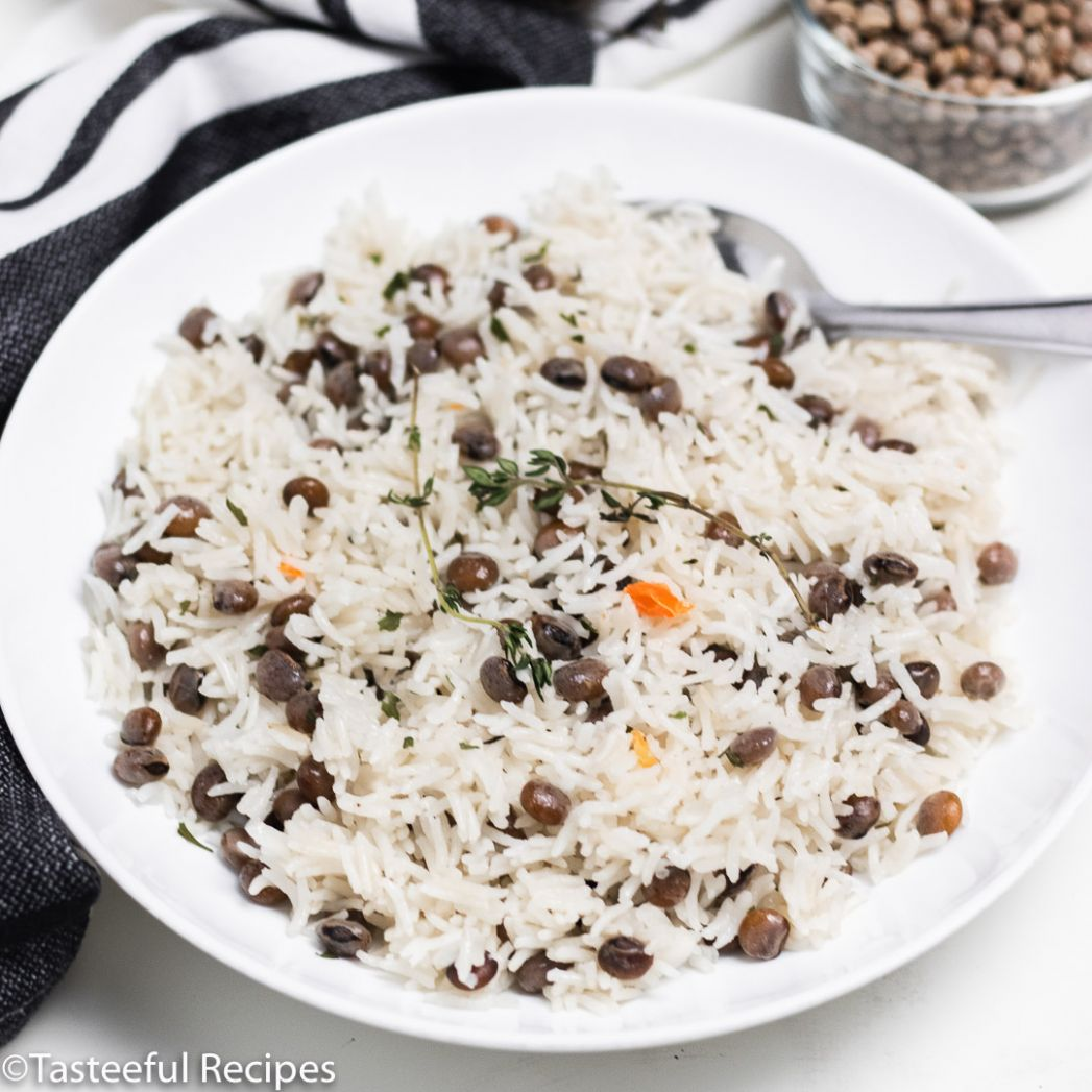 Jamaican Style Rice and Pigeon Peas - Rice Recipes Jamaican