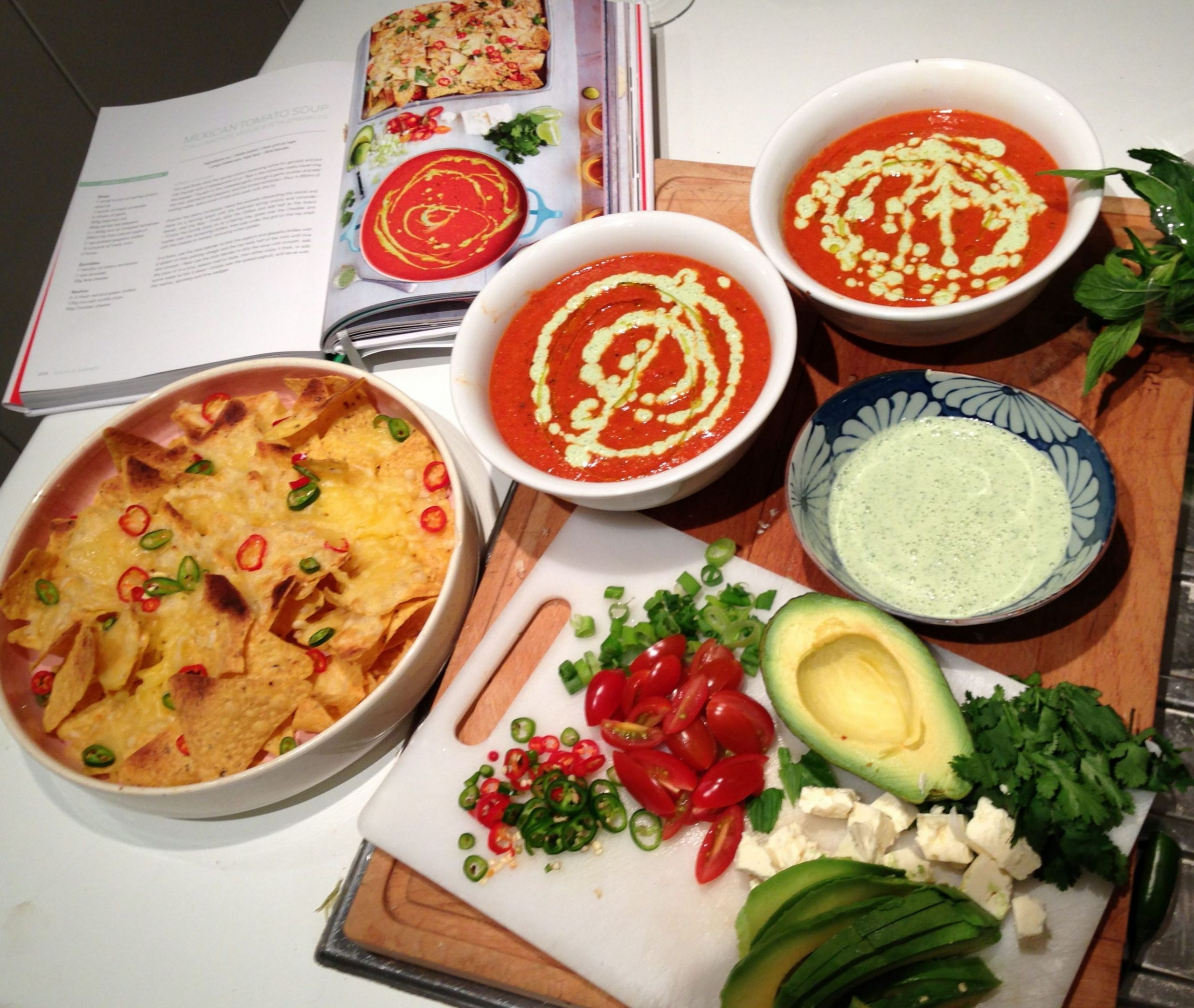 Jamie Oliver's 11 minute meals: Mexican tomato soup with cheesy ...