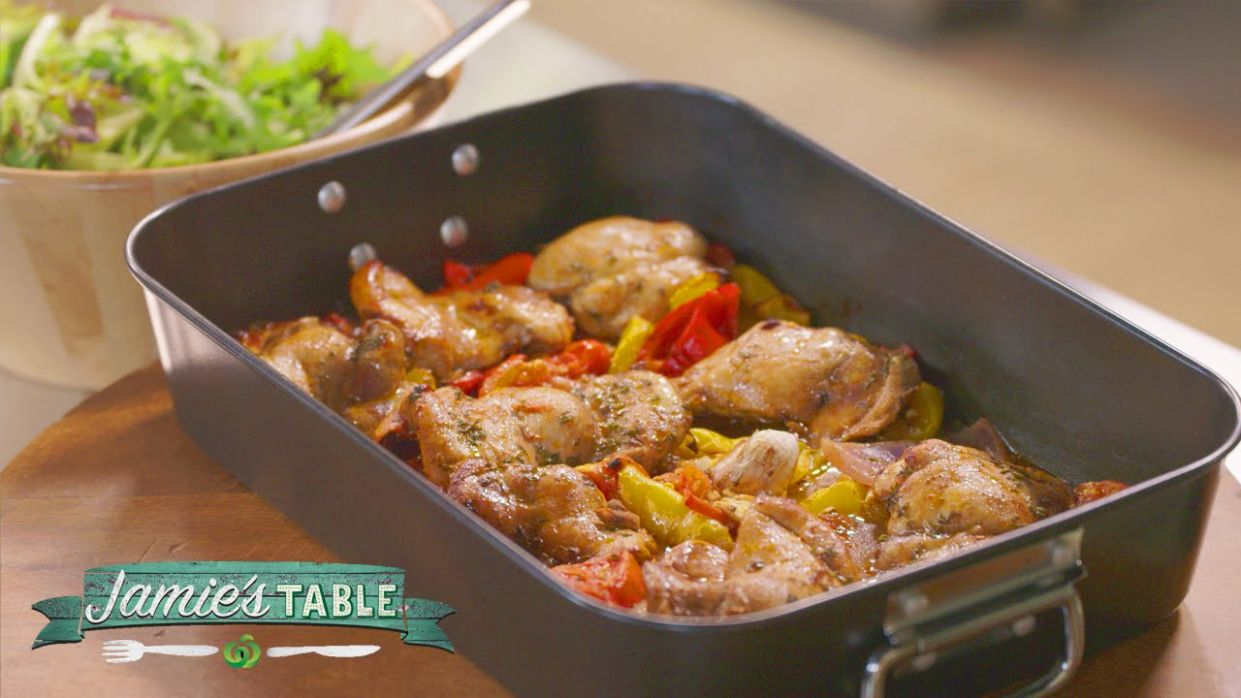 Jamie's Hit n Run Traybaked Chicken Recipe - Jamie's Table