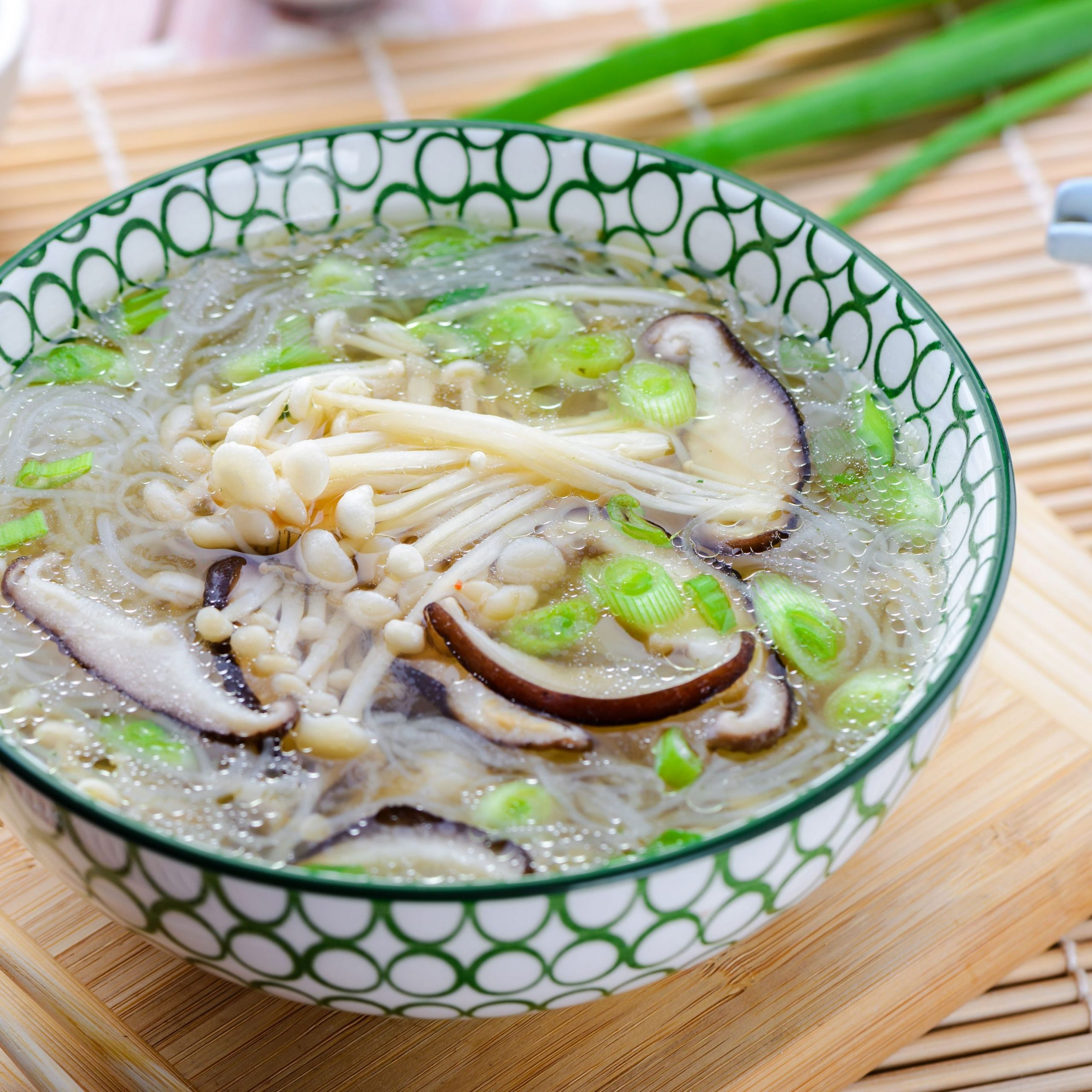Japanese Enoki and Shiitake Mushroom Soup Recipe - Soup Recipes Japanese