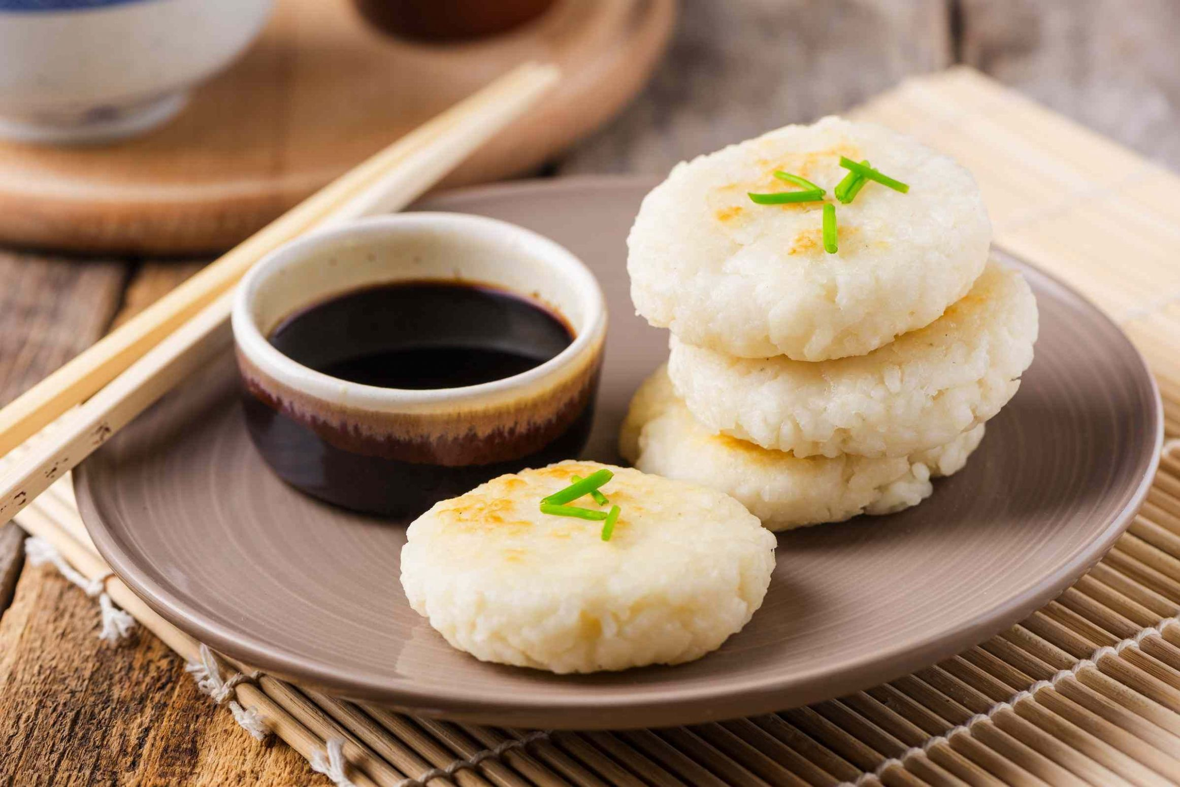 Japanese Pan-Fried Rice Cakes - Recipes Rice Cakes