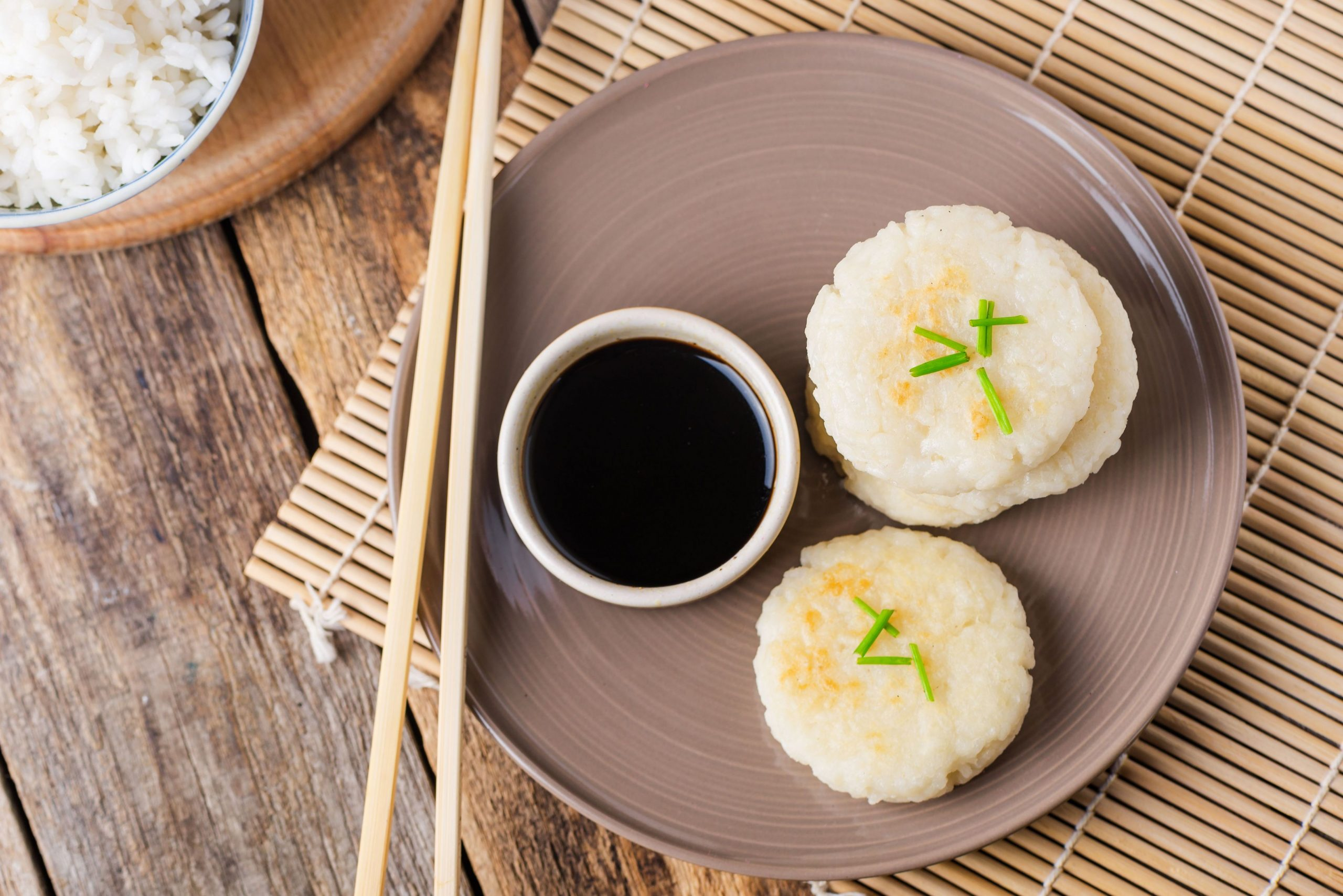 Japanese Pan-Fried Rice Cakes