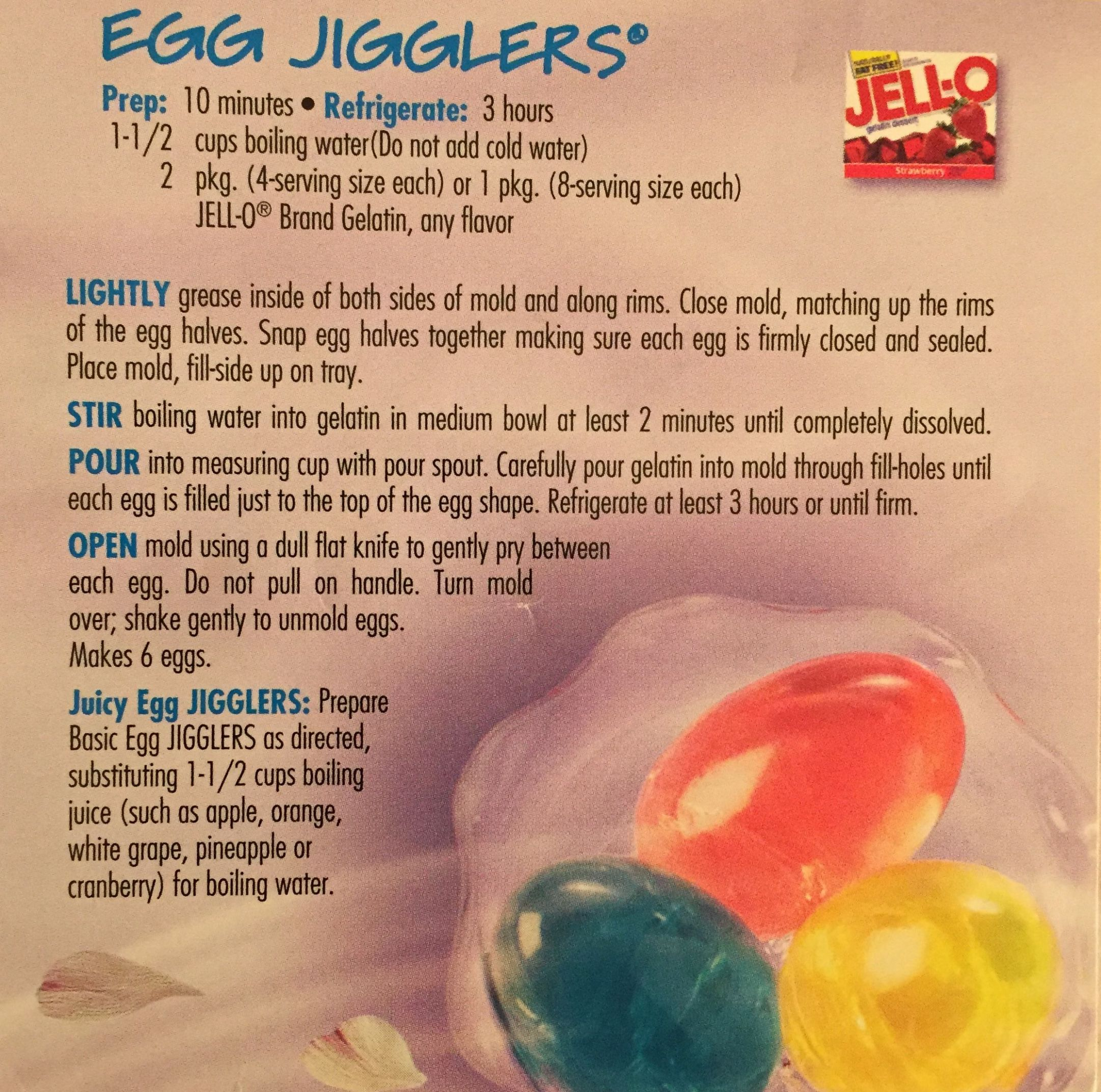 Jello Jiggler Eggs | Holidays in 11 | Jello easter eggs, Jello ..