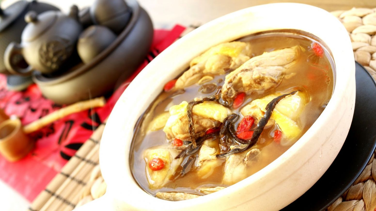 Josephine's Recipes : Rice Wine Chicken Soup | Sesame Wine Chicken ...