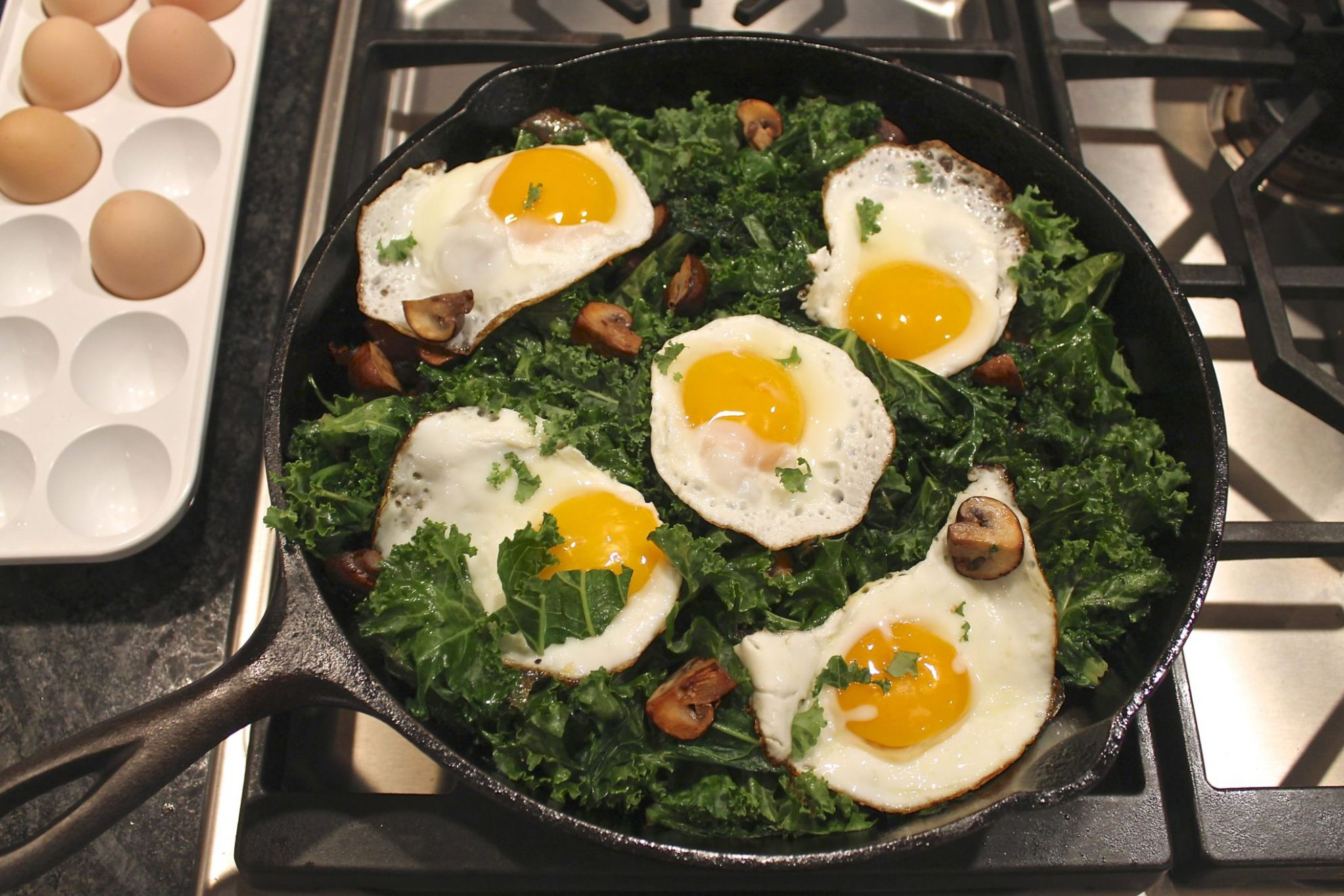 Kale and Eggs – The Fountain Avenue Kitchen