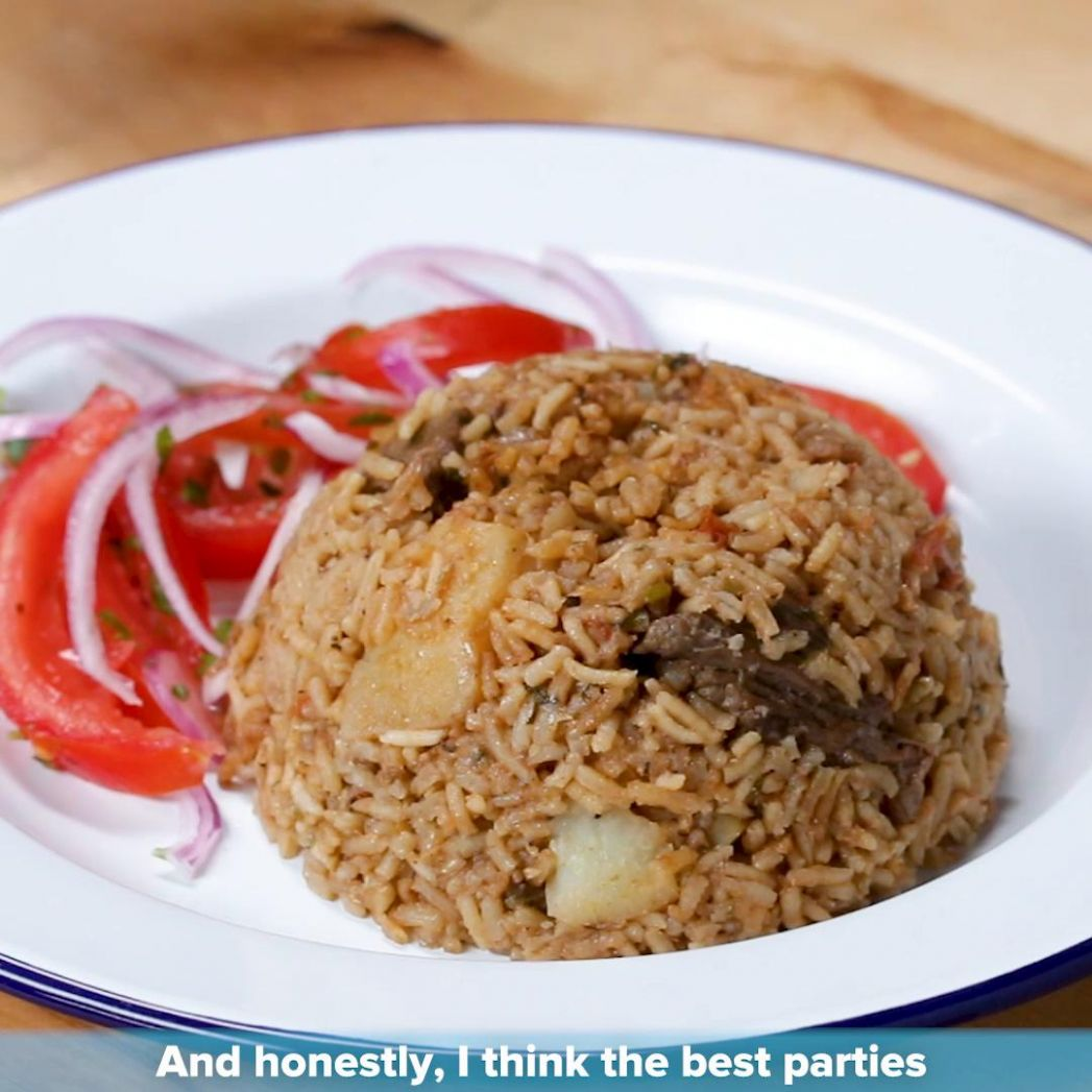 Kenyan Beef And Potato Pilau By Kiano Moju Recipe by Tasty - Food Recipes Kenya