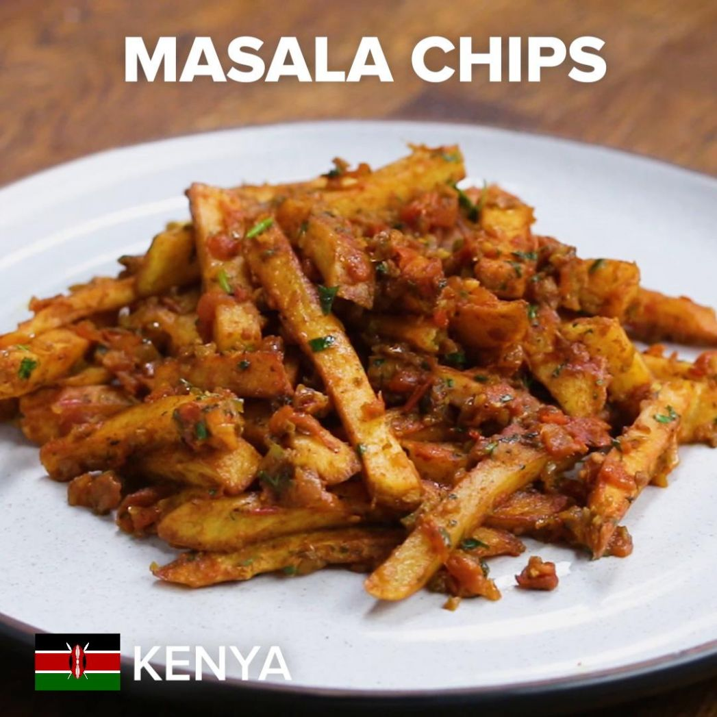 Kenyan Masala Chips Recipe by Tasty - Food Recipes Kenya