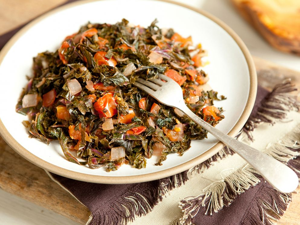Kenyan-Style Kale and Tomatoes - Food Recipes Kenya