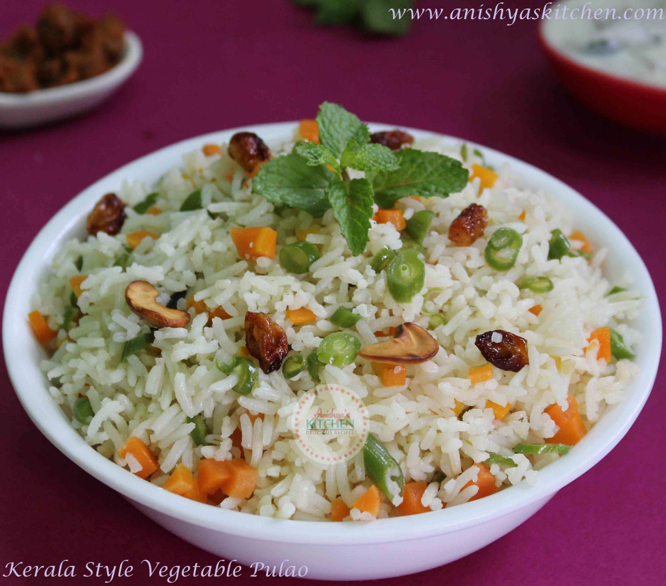 Kerala Style Vegetable Pulao | Pulavu Recipe - Vegetable Recipes Kerala Style