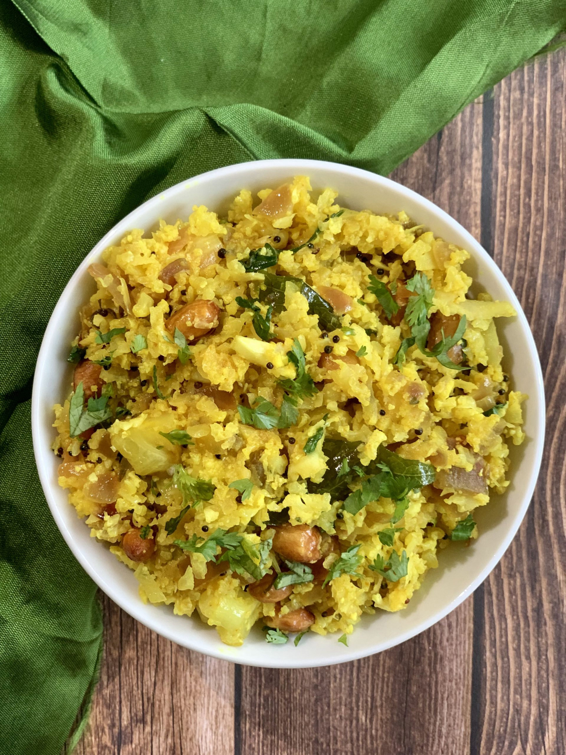 Keto Poha|Cauliflower Poha - Breakfast Recipes Using Poha