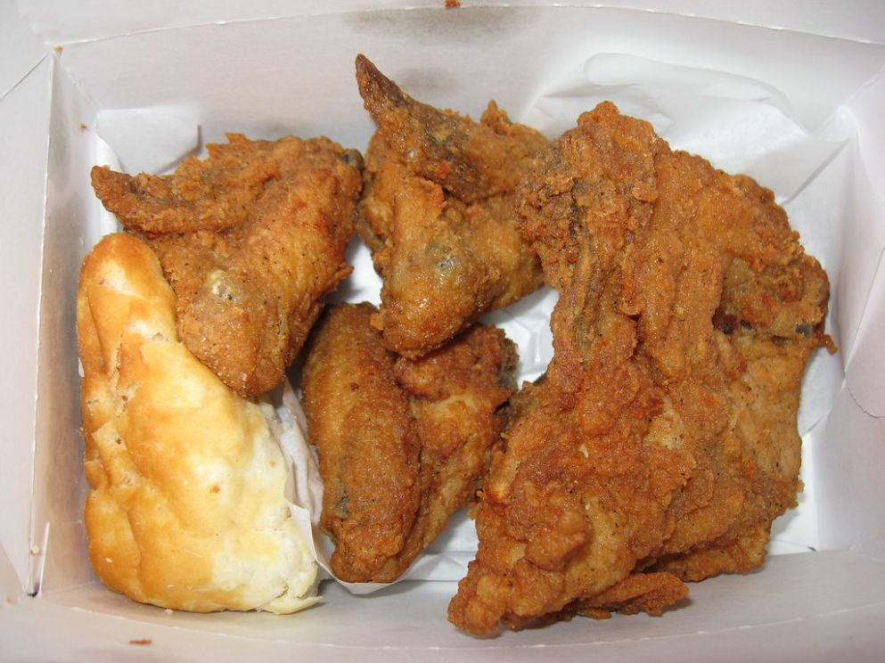 KFC: Breast and wings (original recipe) with biscuit | Flickr - Original Recipe Chicken Breast Kfc
