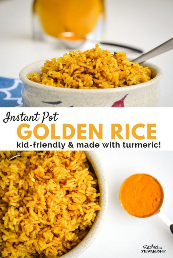 Kid-Friendly Instant Pot Golden Rice