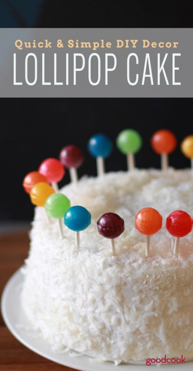 Kids Birthday Cake Recipes Rainbow Lollipop Cake Recipe Kid ..