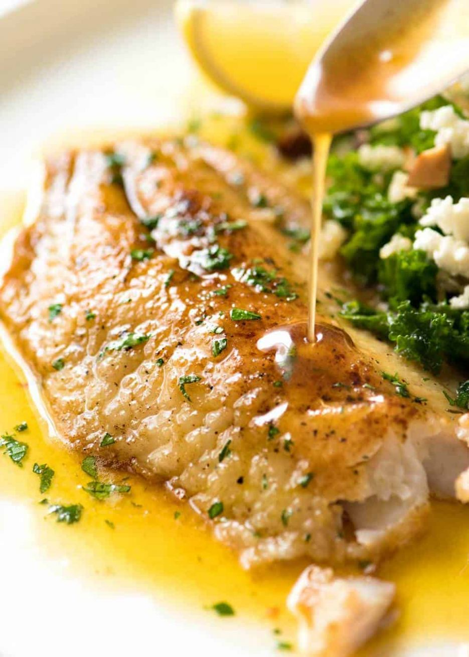 Killer Lemon Butter Sauce for Fish | RecipeTin Eats