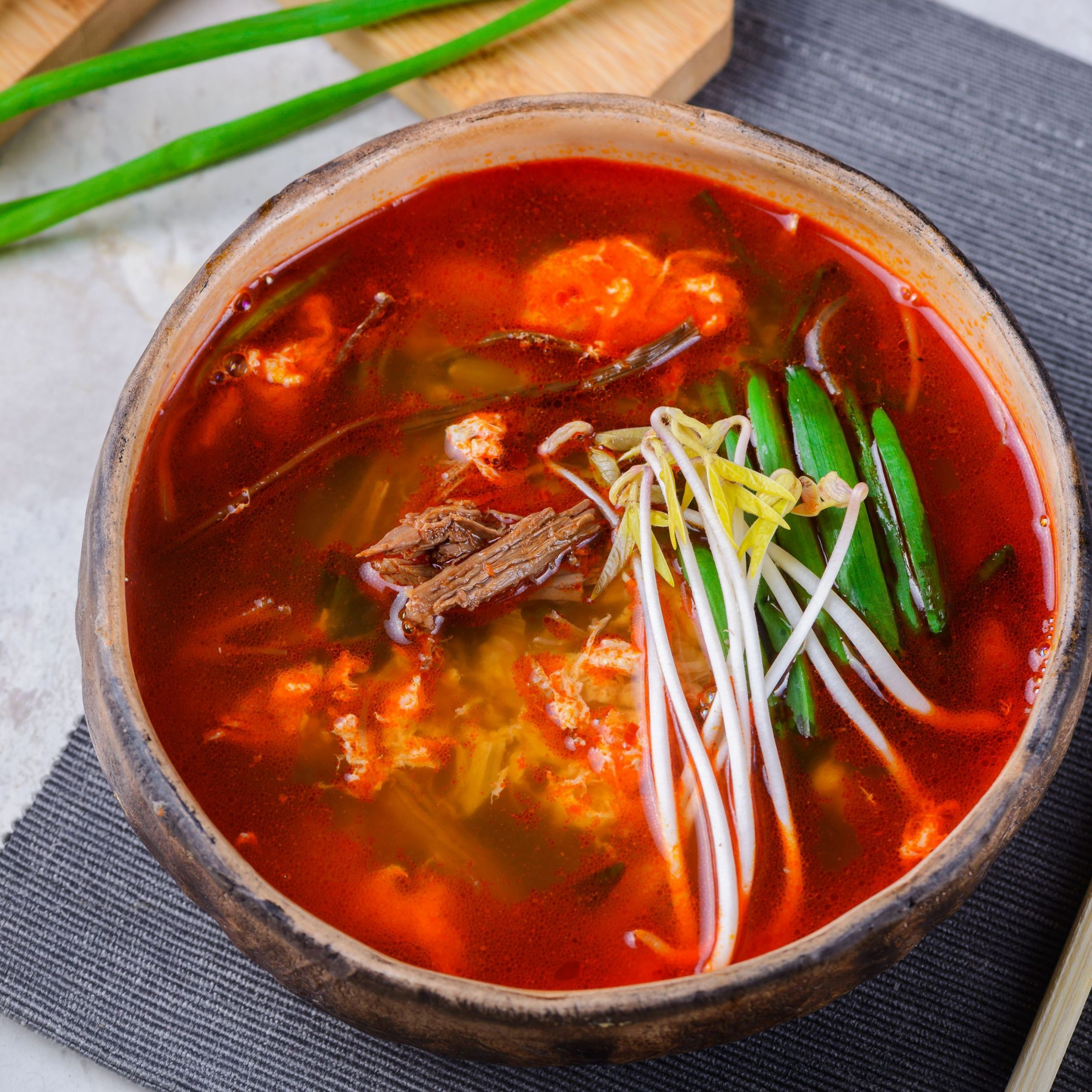 Korean Spicy Beef Soup (Yukaejang) Recipe - Soup Recipes Korean